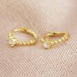 Lisa Angel Gold Sterling Silver Crystal Huggie Earrings