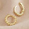 Lisa Angel Gold Sterling Silver Dotted Huggie Hoop Earrings Open