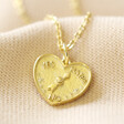 Lisa Angel Ladies' Gold Sterling Silver Decision Heart Pendant Necklace