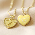 Lisa Angel Ladies' Personalised Gold Sterling Silver Decision Heart Pendant Necklace