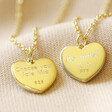 Lisa Angel Gold Sterling Silver Decision Heart Pendant Necklace