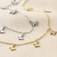Lisa Angel Stainless Steel Butterfly Necklace in Gold and Silver