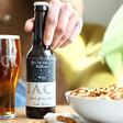 Lisa Angel Personalised Starry Beer Bottle