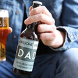 Personalised Bold Awesome Dad Father's Day Bottle of Malt Coast Beer