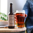 Men's Personalised 'To The Most Awesome Dad' Bottle of Malt Coast Beer and Pint Glass