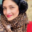 Lisa Angel Ladies' Personalised Embroidered Year Animal Print Blanket Scarf in Camel on Model