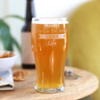 Engraved 'Bright Cider Life' Pint Glass Gift