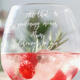 Personalised 'All That Gardening' Balloon Gin Glass