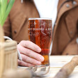 Men's Personalised 'All That Gardening' Pint Glass