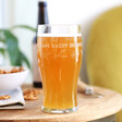 Personalised Engraved 'All That Gardening' Pint Glass