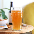Personalised Father's Day 'All That Gardening' Pint Glass