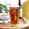 Lisa Angel Personalised 'Bestest Step Dad' Engraved Pint Glass