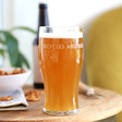 Personalised Engrved 'Bicycles and Beer' Pint Glass