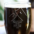 Men's Personalised 'Daddy Bear' Engraved Pint Glass