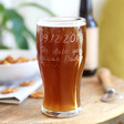 Lisa Angel Personalised Engraved 'Daddy Date' Pint Glass