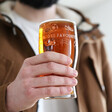 Personalised Football Club Pint Glass with Model