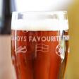 Personalised Football Club Pint Glass