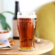 Lisa Angel Personalised Father's Day Football Club Pint Glass