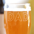 Personalised Name Father's Day Pint Glass
