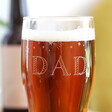 Personalised Starry Father's Day Pint Glass