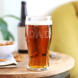 Men's Personalised Starry Father's Day Pint Glass