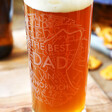 Lisa Angel 'The Best Dad in Norwich' Map Design Pint Glass