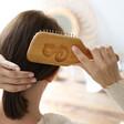 Lisa Angel Personalised Bamboo Hairbrush in Use