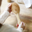 Lisa Angel Round Personalised Initial Bamboo Hairbrush