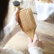Lisa Angel Square Personalised Initial Bamboo Hairbrush