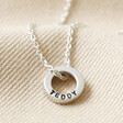 Lisa Angel Hand-Stamped Personalised Sterling Silver 'Family' Bead Necklace