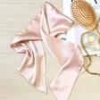 Lisa Angel Dusty Pink Wide Satin Hair Scarf