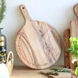 Lisa Angel Personalised Round Olive Wood Pizza Board