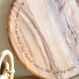 Personalised Round Olive Wood Pizza Board