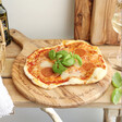 Personalised Round Olive Wood Pizza Board Gift
