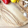 Personalised Engraved Round Olive Wood Pizza Board