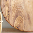 Round Olive Wood Pizza Board