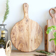 Lisa Angel Round Olive Wood Pizza Board