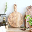 Round Solid Olive Wood Pizza Board