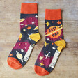 Lisa Angel with Powder Men's 'Best Dad' Socks