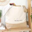 Lisa Angel Personalised Embroidered Birth Flowers Tote Bag