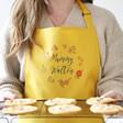 Lisa Angel Ladies' Personalised Floral Yellow Apron