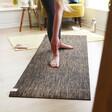 Lisa Angel Ladies Jute Yoga Mat in Black
