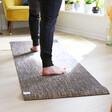 Lisa Angel Unisex Jute Yoga Mat in Black