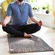 Lisa Angel Men's Jute Yoga Mat in Black