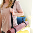 Personalised Message 2 in 1 Yoga Belt and Sling in Black From Lisa Angel
