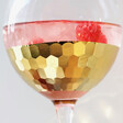 Lisa Angel Metallic Gold Etched Balloon Gin Glass