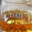 Men's Engraved Name Vintage Style Etched Whisky Tumbler with Wooden Base