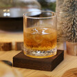 Lisa Angel Men's Vintage Style Etched Whisky Tumbler with Wooden Base