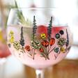 Wildflower Balloon Gin Goblet