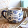 Lisa Angel with Ceramic Sass & Belle Blue Willow 'Mum' Mug